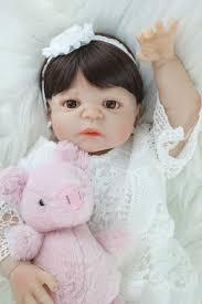 Online Shop <b>55cm Full Body Silicone</b> Bebe Reborn Girl Doll Toddler ...