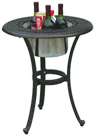 amazoncom  darlee elisabeth cast aluminum round end table with