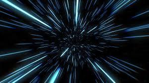 Extracto del movimiento warp o hiperespacio en rastro de estrella azul.  explosión y expansión de movimiento ilustración 3d | Foto Premium