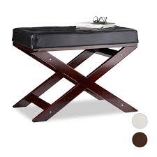 Sitzbank Aus Holz Mit Polster Aus Kunstleder Ohne Lehne 1 Sitzplatz Innen Ebay