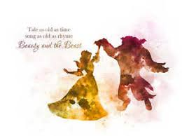 Beauty And The Beast Song Quotes Best of ART PRINT Beauty And The Beast Dance Quote Illustration Disney