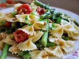 bow tie pasta with asparagus  sun dried tomatoes  and boursin