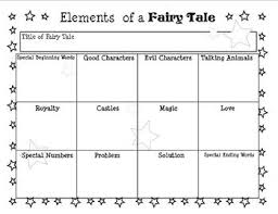 Elements Of A Fairy Tale Elements Of A Fairy Tale Chart By Artsy Cats Teachers Pay Teachers