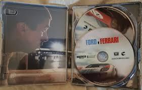 14 ноября в прокат выходит «ford против ferrari» — спортивная драма с мэттом дэймоном и кристианом бэйлом. Ford V Ferrari 4k Steelbook Bd Digital Copy Exclusive