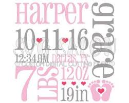 Baby Girl Fox Birth Announcement Template Cut File In Svg, Eps, And ...
