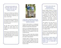progressive printing brochure for mental health america of putnam county page two