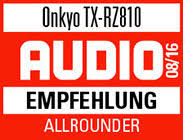 onkyo tx rz810. and discrete non-phase-shift amps\u2014the tx-rz810\u0027s sheer agility dynamism exceeds the highest expectations. * firmware update / ** optional onkyo tx rz810