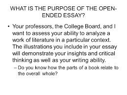 question the open ended essay question ppt video online what is the purpose of the open ended essay