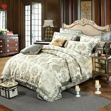 king size duvet sets luxury jacquard bedding set golden gray king size duvet cover cotton quilt