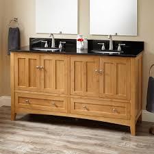 Bamboo Bathroom Cabinets 60 Evelyn Bamboo Double Vanity For Undermount Sink Bathroom