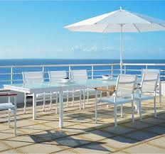 aluminum outdoor extension dining table