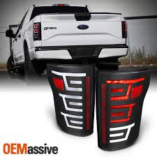 2016 F150 Led Lights Details About Black Fits 2015 2016 2017 Ford F150 Led Light Bar Tail Lights Tail Lamps