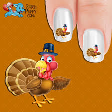 Thanksgiving Turkey Nail Art Decals (Now! 50% more FREE) – Patch Puppy