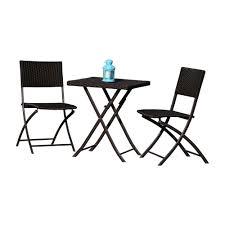 set of folding chairs. Hospitality Rattan Sapphire 3 Pc Wicker Folding Chair Set 1372-BLK-3PC-SET Of Chairs S