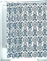 blue and white shower curtain navy blue curtains outstanding white and fl patterned shower curtain blackout