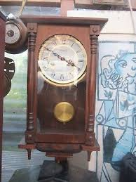 nice grandfather chiming clock faux