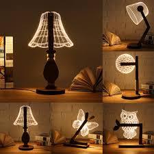 Tafellamp Goede Kopen Dc5v Usb Led Dier Vlinder Uil Nachtlampje