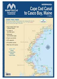 Maptech Waterproof Chartbook Cape Cod Canal To Casco Bay Maine
