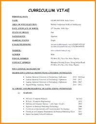 Cv Curriculum Vitae Awesome Resume Format Curriculum Vitae Samples Newest Depiction Furthermore