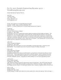Cover Letter Mechanical Engineer Sample Resume Sample Resume For