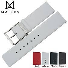 <b>MAIKES</b> New <b>16mm 18mm 20mm</b> 22mm Genuine Leather Watch ...