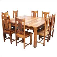 rustic wood dining table set 8 chair dining table square dining table 8 chairs set rustic