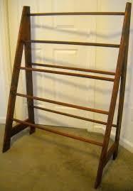 Free Standing Quilt Display Rack Impressive Impressive Wooden Quilt Rack 32 Stand With Hearts Blanket Bedspread