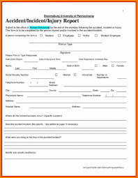 Example Of Security Incident Report Form Templates Customer Template