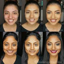 for dim skin is the similar procedure just check to decide the darkest bronzer for the contouring and a usual highlighter not to white
