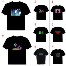 Light Up Shirts Us 9 12 20 Off Men Sound Activated Led T Shirt Light Up Down Flashing T Shirts For Rock Disco Party Dj Tops Tee H9 In T Shirts From Mens Clothing