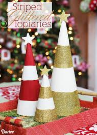 striped topiaries diy holiday decorations darice