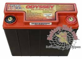 Odyssey Motorcycle Battery Application Chart Pc680 Battery Odyssey Batteries