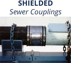 flex seal arc shielded adjustable repair couplings