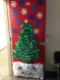 office door decorations for christmas. Door Decorating Ideas For Christmas Office Decoration Contest Tree Scene With Working Lights Decorations S