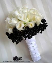 flickriver photoset 'glamourous black and white wedding ' by Wedding Bouquets Black And White white rose black wedding flowers black and white silk wedding bouquets