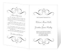 Free Printable Wedding Ceremony Programs 29 Images Of Wedding Ceremony Program Template Word Leseriail Com