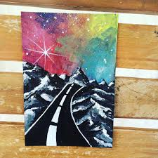 introduction diy painting on black canvas