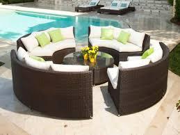 brown set patio source outdoor. Source Outdoor Circa 8 Piece Wicker Conversation Set Brown Patio -