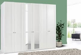 Kleiderschrank Schlafzimmer Schrank Newport Weiß 270cm 6 Türig Neu