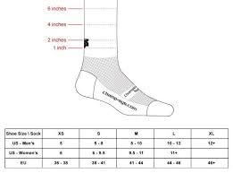 Sock Length Chart Sizing Chart For Technical Socks Dth Endurance