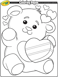 Valentine Coloring Pages Crayola Printable Coloring Page For Kids