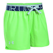 under armour shorts for girls. under armour girls play up short, lime light, lg (14-16 big shorts for r