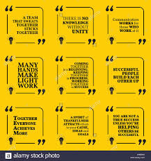 Set Of Motivational Quotes About Team Unity Communication Work