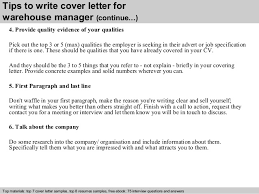 Awesome Collection Of Warehouse Manager Cover Letter On Warehouse