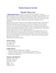 A Model Of Resume Modeling Invoice Template Model Resume Format Promotional Job In 21