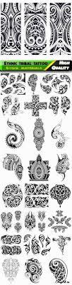 этнические узоры орнаменты для татуировки вектор