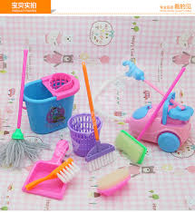 Free Shipping doll furniture clear set 9pcs doll accessories for