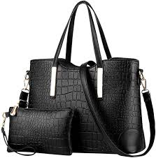 HYSGM 2Pcs Women Pattern PU Leather Solid Color ... - Amazon.com