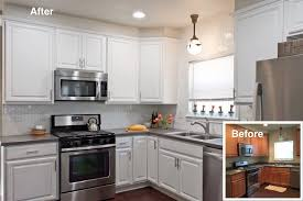 white painted cabinetsWhite Cabinets Refinished by Paper Moon Painting  See How We