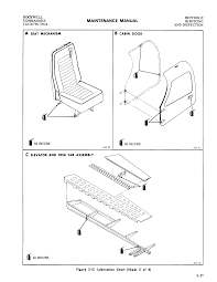 Rockwell a seat mechanism b cabin door section ii servicing and inspection r 50 hours c